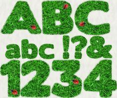 Grassy Ladybug Alphabet & Numbers