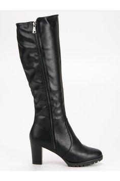 Čierne čižmy pod koleno Super Me Heeled Boots, Platform, Heels, Fashion, High Heel Boots, Heel, Moda, Heel Boots, Fashion Styles