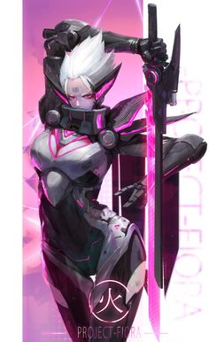 Project Fiora - League of Legends fan art by Linger FTC Lol League Of Legends, Akali League Of Legends, Cyberpunk Character, Cyberpunk Art, Fantasy Characters, Female Characters, Character Concept, Character Art, Girls Anime