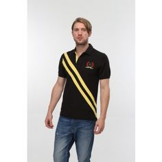 Buy black color Kington polo t-shirt on just rupees 749 and get free shipping. We will deliver the product within 2 days.