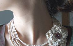 """Well, this is quite different from the """"Easiest Crochet Necklace"""" I've shown in the other post, and I've tried to write down an outline of ..."""