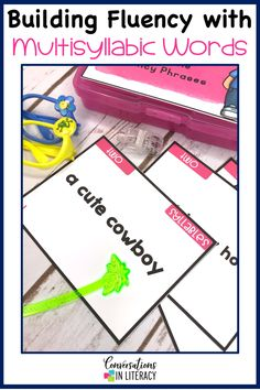 Multisyllabic word activities are great for word work, small group, RTI, & literacy centers! Students practice decoding fluency phrases and learning comprehension skills too with the ideas in this common core product #guidedreading #fluency #conversationsinliteracy #comprehension #phonics #classroom #elementary #thirdgrade #secondgrade #fourthgrade #fifthgrade 2nd grade, 3rd grade, 4th grade, 5th grade