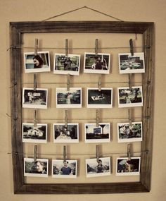 Such a cute way to display pictures!
