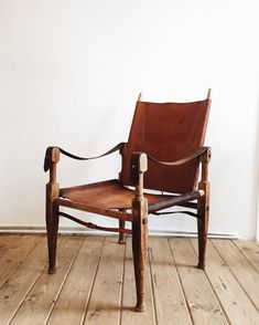 Beautiful vintage safari chairs by Kaare Klint. These show patina and wear from…