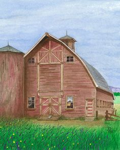 Barn Done In Water Color