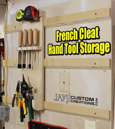 French Cleat Hand Tool Holder