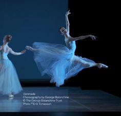 Maria Kochetkova in     Balanchine's 'Serenade.' Photo (c) Erik Tomasson.