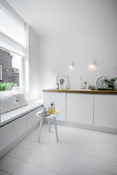 New Kitchen Corner Window Ideas Drawers 37 Ideas Kitchen Corner, New Kitchen, Kitchen Dining, Kitchen Decor, Kitchen Black, Kitchen Styling, Kitchen Tools, Sweet Home, Scandinavian Kitchen
