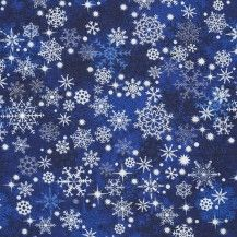 Reindeer Prance Snowflakes - Blue by NORTHCOTT