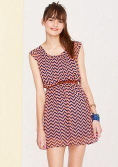 Chevron Print Dress - Dresses - New Arrivals - dELiA*s