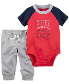 Carter's 2-Pc. Handsome Like Daddy Bodysuit & Pants Set, Baby Boys (0-24 months) - Red 24 months