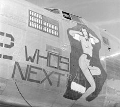 "B-24 Liberator ""Who's Next"" stored in the Arizona desert boneyard at Kingman Army Air Field"