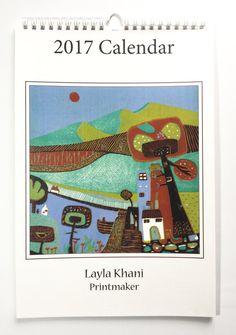 2017 Art Calendars,2017 Wall Calendar,Wall Art Calendars,Art Calendars 2017,Monthly Calendar,New Years Gift,Christmas Gift,Spiral Calendar