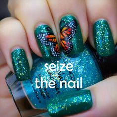 Seize the Nail:, 12/13/12: NOTD: One Big Butterfly