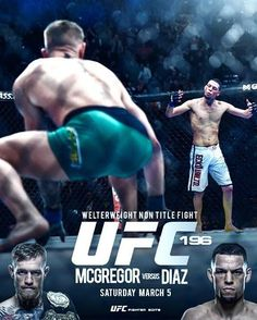 2ad6915a6d13 Conor McGregor vs Nate Diaz fight poster   if you love  MMA