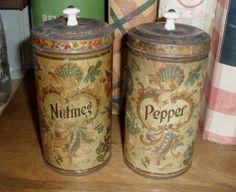 Victorian era spice tins