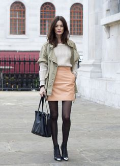 what-do-i-wear: Knit by Acne, leather skirt H, coat by Isabel Marant, shoes Nowhere, bag Celine, watch Tagheuer and bracelet Cooee. (image: the-northernlight)
