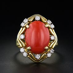 Coral Fashion Ring - 30-1-3769 - Lang Antiques