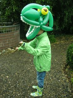 kameleon balloon hat, from Ballonkunstenaar Patrick.