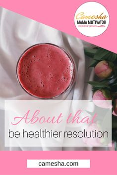 """So many people make a resolution to be healthier in the New Year. I found at least one way to make it easier to actually do. About that """"be healthier"""" resolution... http://www.camesha.com/blog/be-healthier-resolution/"""