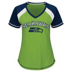 Seattle Seahawks Women's 2nd Raglan T-Shirt XL, Multicolored