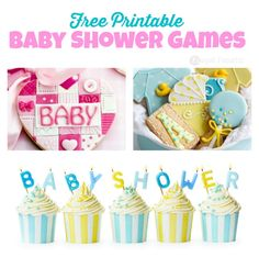 Free printable baby shower games collage 2