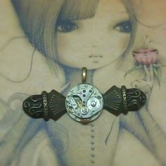#antique #clockpart #steampunk #pendant #victorian New Pendant for new collection http://www.emeraldinceptions.com/