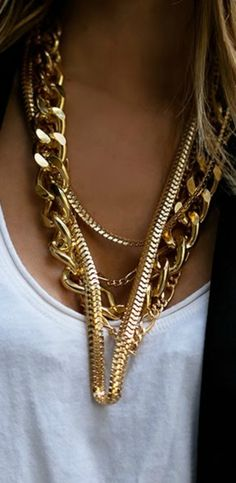I kinda want some huge gold chains for those days I am feelin a lil bit gangsta. Haha