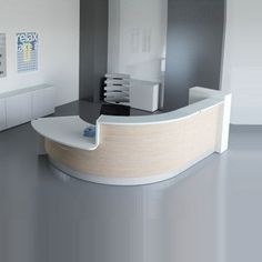 UK's Leading Range of Luxury Reception and Office Furniture. Browse the Valencia - Curved reception desk 5 and Contact us For Details. Dental Reception, Curved Reception Desk, Hotel Reception Desk, Curved Desk, Reception Furniture, Reception Desk Design, Reception Counter, Showroom Interior Design, Medical Office Design