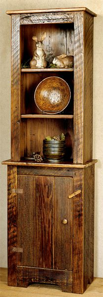 PRIMITIVE-2-PC-CABINET - made from recycled wood. MAKE THIS FOR MY ENTRY WALL