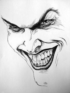joker drawings drawing biro sketch drawn sketchbook face sketches cartoon harley quinn jokers batman pencil easy tattoo pen cool dc