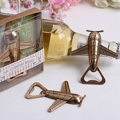 For those guests who are travelers having a bottle opener in the shape of an airplane will blow their mind! Click for extra details.