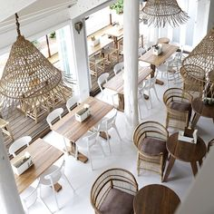 One of our favourite images from our shoot for downstairs looking amazing which is now open in Byron featuring so many of our fav local talents including interior styling lighting accessories tables and many more 🌴 image 📷 Cafe Interior Design, Cafe Design, Interior Styling, Interior Architecture, House Design, Deco Restaurant, Restaurant Design, Commercial Design, Commercial Interiors