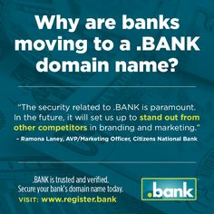 Don't wait to register a Bank-Domain