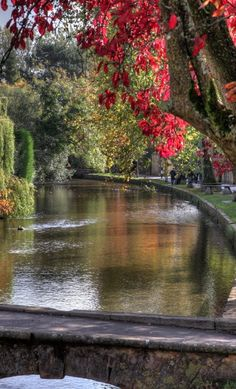 The River Windrush in Bourton-on-the-Water ~ Cotswolds Area of Gloucestershire, England