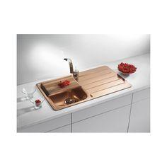 Alveus Monarch Line 20 Copper, inset sink Best Kitchen Sinks, Steel Kitchen Sink, Copper Kitchen, Stainless Steel Kitchen, New Kitchen, Cool Kitchens, Copper Sinks, Copper Wood, Stainless Sink