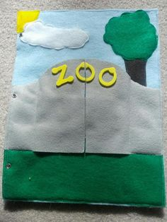 And Next Comes L: Zoo Quiet Book Page