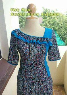 Latest Neck Design For Kurtis African Attire, African Wear, African Fashion Dresses, African Dress, Fashion Outfits, Neck Designs For Suits, Neckline Designs, Dress Neck Designs, Kurti Sleeves Design