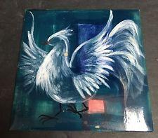 Vintage Theodore Van Soelen GARUDA Painted Art Tile Signed Taos Santa Fe Theo