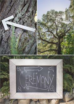 wedding ceremony chalkboard