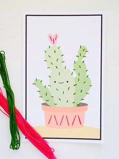 Littles will love adding texture to these printable plants. A perfect, non-prickly way for kids to get in on the cactus trend!
