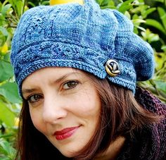 Free knitting pattern for Funiculaire Hat Slouchy Beret and more slouchy beret knitting patterns