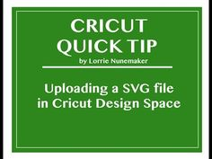 Uploading a SVG in Cricut Design Space 2.0 - YouTube