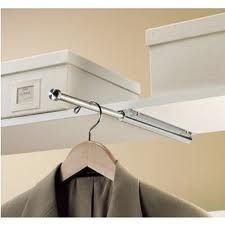 Hidden clothes rod for laundry room. I definitely need this because *somebody* (not me) always leaves HIS clothes in the laundry room despite having a closet. Laundry Storage, Master Closet, Laundry Mud Room, Room Organization, Clothes Closet Organization, Closet Door Handles, Laundry Room Organization, Room Remodeling, Laundry