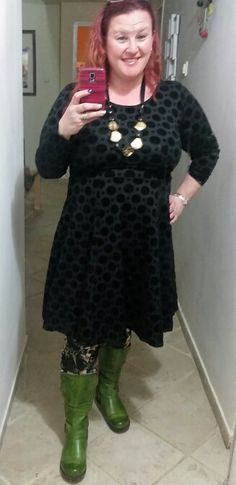 Dress by So Simple, tights the Third Eye, boots by Steps, necklace Crazy line
