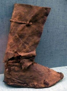 Viking era leather boot, from an historical excavation in Denmark.