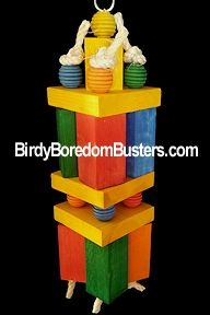 Blocks of Fun Large Parrot Bird Toy