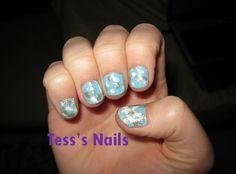 Snowflake/flurry  glitter nails