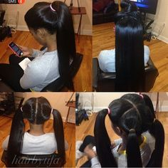 Vixen sew-in ... This is only for ppl with good hair. These naps can't do that lolz
