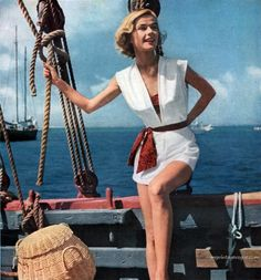 The perfect outfit to set sail in! (via My Vintage Vogue)